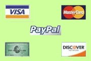 We accept all major cards, and PayPal